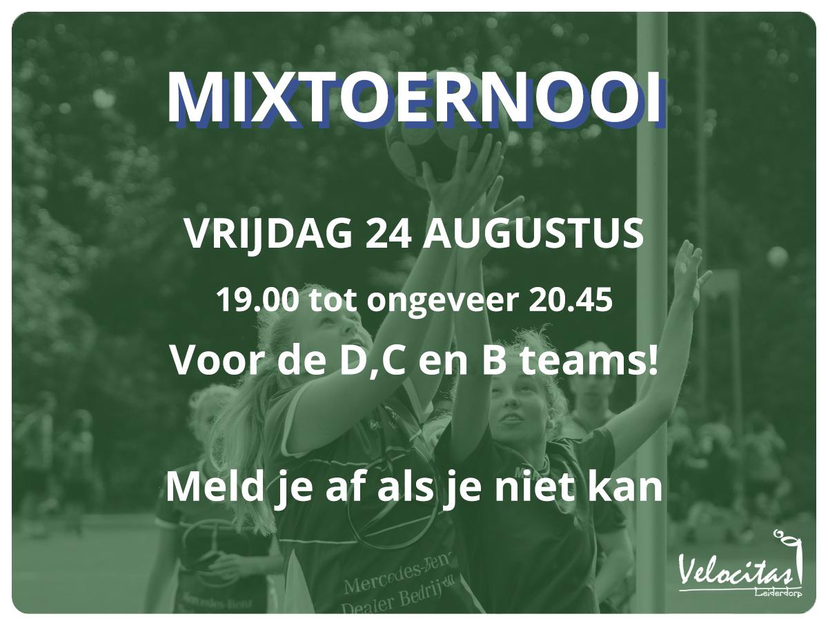 Poster velocitas mixtoernooi 24 augustus 2018