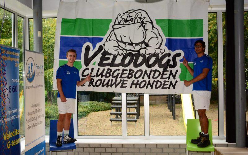 De poster van de Velodogs, de supportersclub van Velocitas