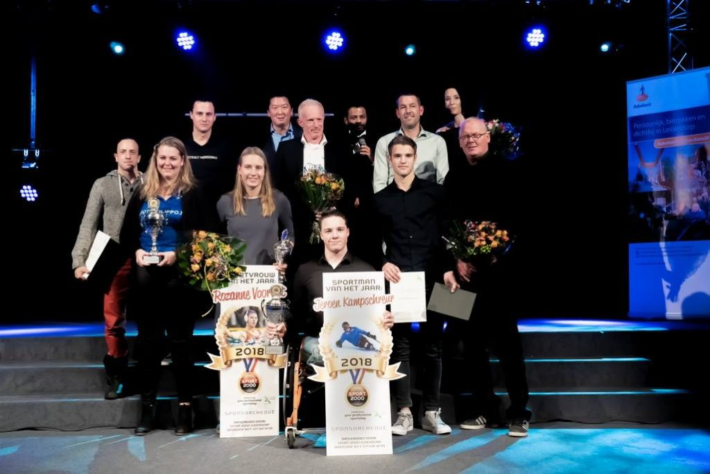Alle winnaars van de Sportverkiezing Leiderdorp 2018.